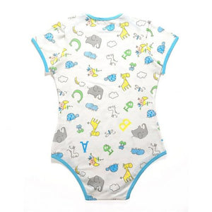 Giraffe and Zoo Animals Onesie Bodysuit XLG - myabdlsupplies