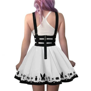Bondage Teddy Bear Overall Skirt White 3XL - myabdlsupplies
