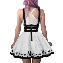 Bondage Teddy Bear Overall Skirt White XS - myabdlsupplies