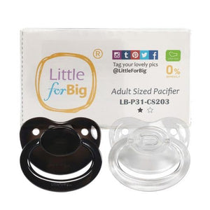 Candy Gloss Pacifers-Black & Crystal Set - myabdlsupplies