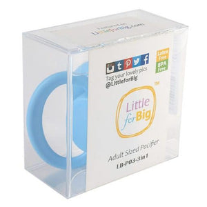 LittleForBig GEN 2 Adult Sized Pacifier Blue - myabdlsupplies