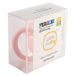 LittleForBig GEN 2 Adult Sized Pacifier Pink - myabdlsupplies
