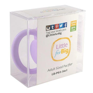 LittleForBig GEN 2 Adult Sized Pacifier Lavender - myabdlsupplies
