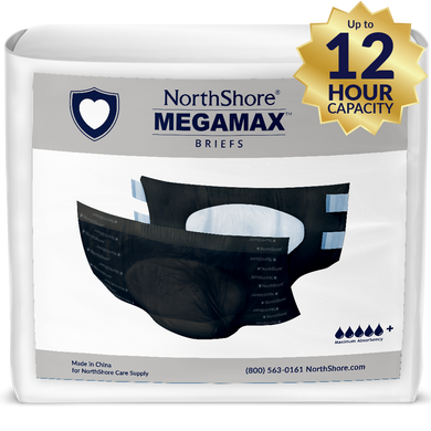 NorthShore MEGAMAX BLACK MEDIUM PACK - myabdlsupplies
