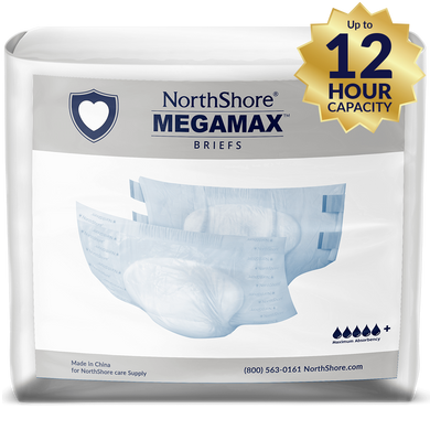 NorthShore MEGAMAX WHITE LARGE PACK - myabdlsupplies