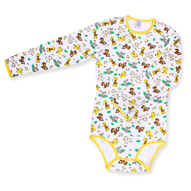 Long Sleeve Safari Onesie MED - myabdlsupplies