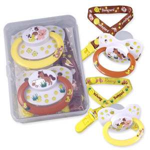 Barnyard Pacifier and Clip 2 Pack - myabdlsupplies