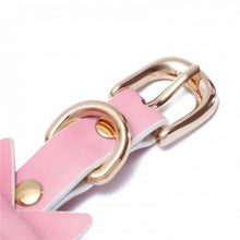 Prettybows Soft Lamb Leather Wrist Cuffs Set – Pink/White Leather & Golden Alloy - myabdlsupplies