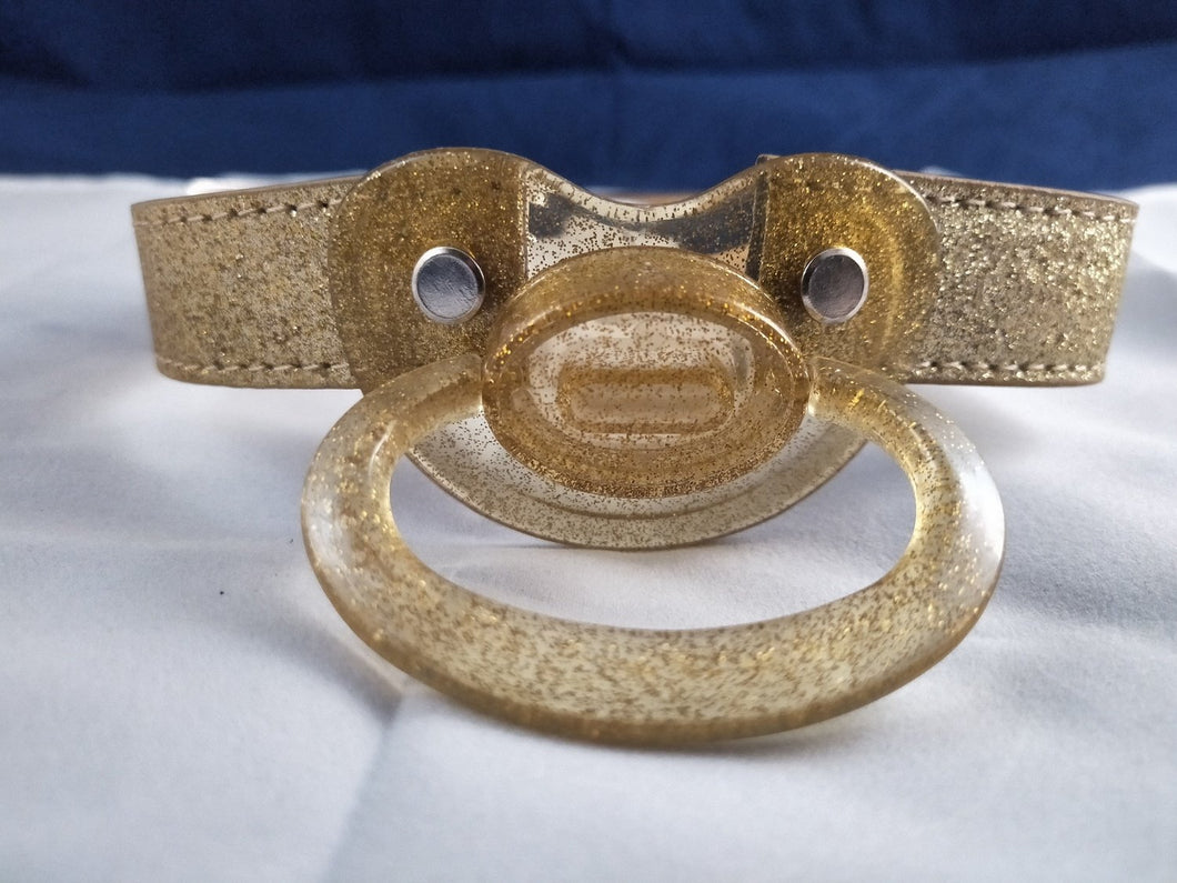 Gold Pacifier Gag - myabdlsupplies