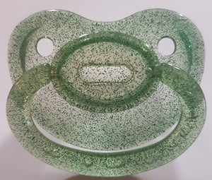 Transparent Glitter Green Pacifier - myabdlsupplies