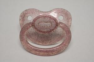 Transparent Glitter Purple Pacifier - myabdlsupplies