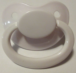 White Pacifier - myabdlsupplies