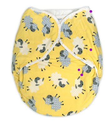 Omutsu Bulky Nighttime Cloth Diaper - Yellow Sheep M/L - myabdlsupplies