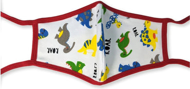 Dinosaur Washable Mask With Ties Twin Pack - myabdlsupplies