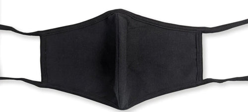 Black Washable Mask With Ties Twin Pack - myabdlsupplies