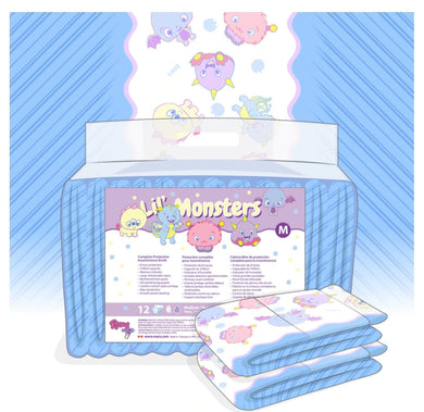 Rearz Lil' Monsters Diapers V3.0 SML - myabdlsupplies