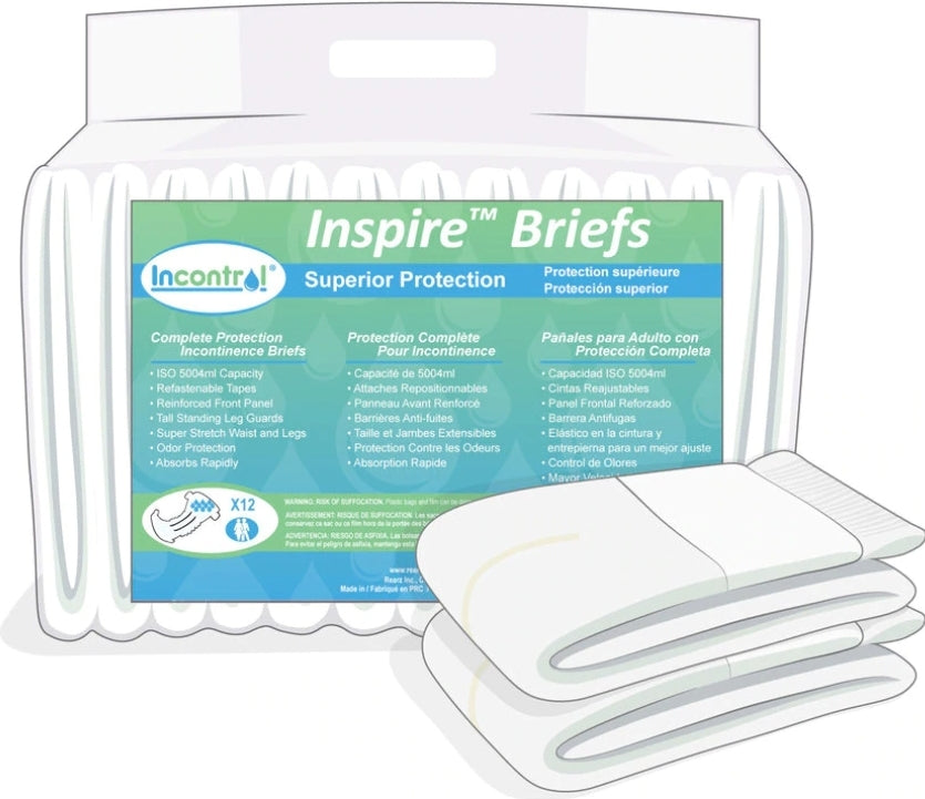 InControl Inspire Incontinence Briefs XLG - myabdlsupplies