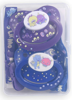 Monsters Pacifier and Clip 2 Pack - myabdlsupplies
