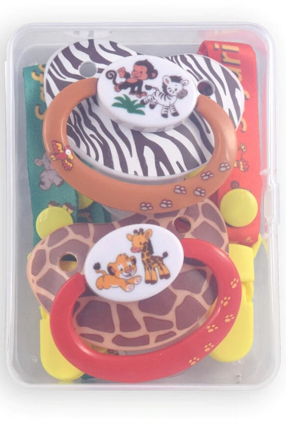 Safari Pacifier and Clip 2 Pack - myabdlsupplies