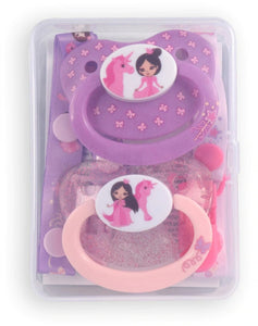 Princess Pink Pacifier and Clip 2 Pack - myabdlsupplies
