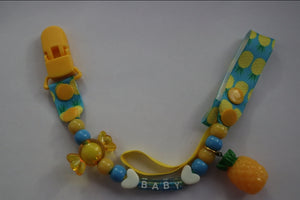 Pacifier Clip Sweet Pineapple - myabdlsupplies