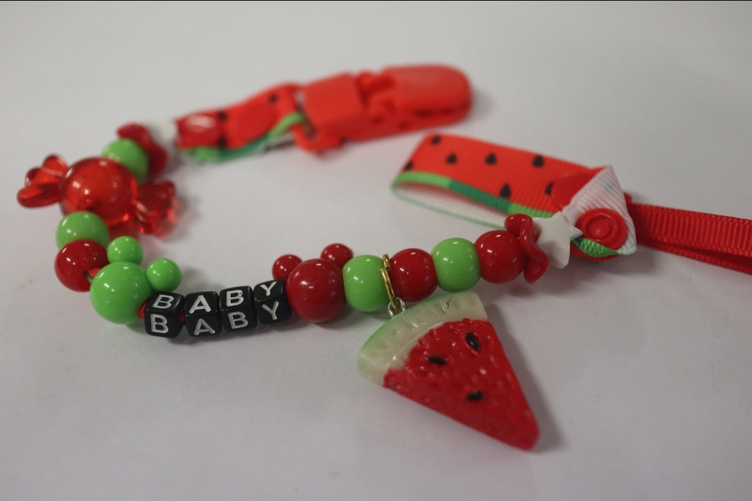 Pacifier Clip Watermelon - myabdlsupplies