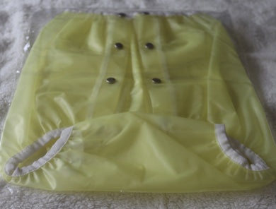 Plastic Pants Button Style Yellow SML - myabdlsupplies
