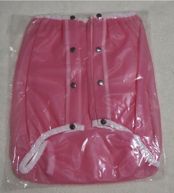 Plastic Pants Button Style Pink SML - myabdlsupplies