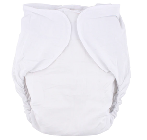 Omutsu Bulky Nighttime Cloth Diaper - White S/M - myabdlsupplies