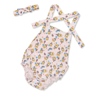 Adult Baby Romper With Headband   MED