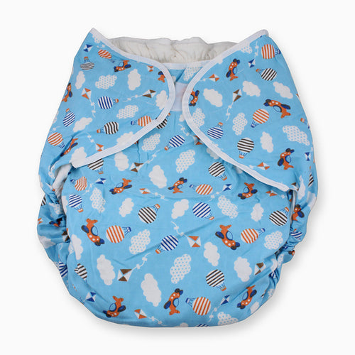Bulky Nighttime Adult Cloth Diaper - Planes L/XL - myabdlsupplies