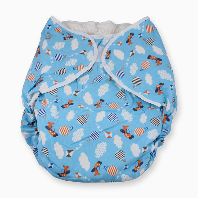 Bulky Nighttime Adult Cloth Diaper - Planes M/L - myabdlsupplies