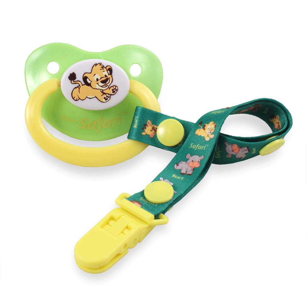 Safari Griffin Lion Pacifier and Clip - myabdlsupplies