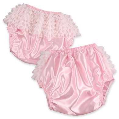 Pink Satin Rhumba Waterproof Panties MED - myabdlsupplies