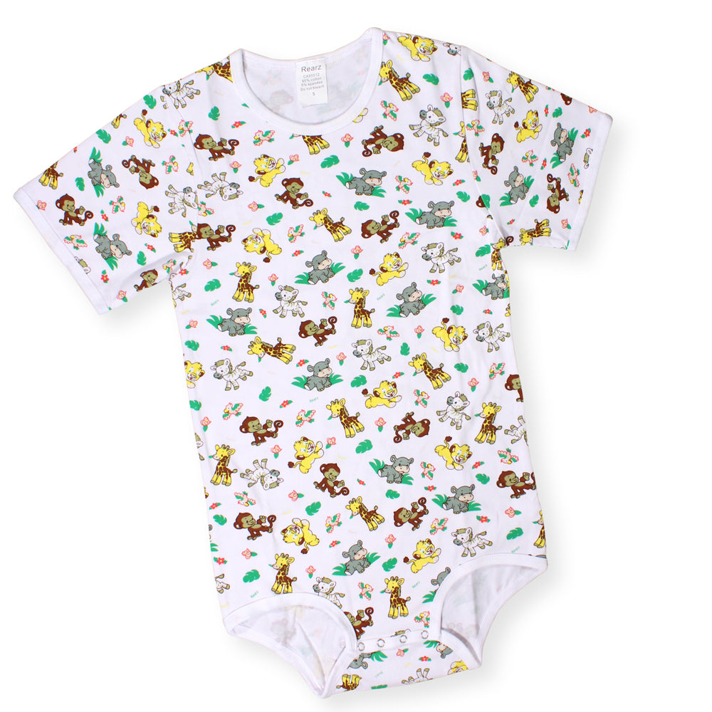 Short Sleeve Safari Onesie Small - myabdlsupplies
