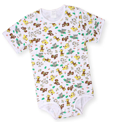Short Sleeve Safari Onesie LRG - myabdlsupplies