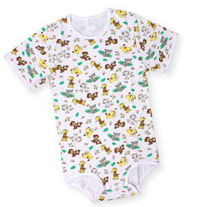 Short Sleeve Safari Onesie Large - myabdlsupplies