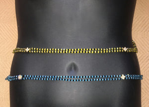 Multi-Color Double-String Waist Beads