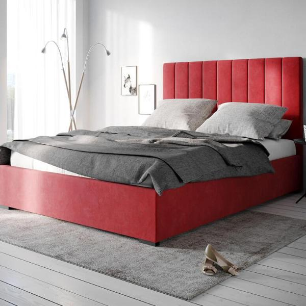 timeless design be528 880a4 Queen Size - Red Velvet fabric ensemble bed frame or 120cm bed head - Sarah  collection