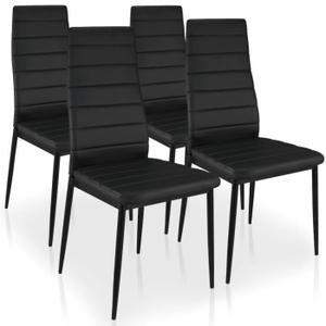 Five Piece -Dining Table with 4 chairs Set Black or black n white ...