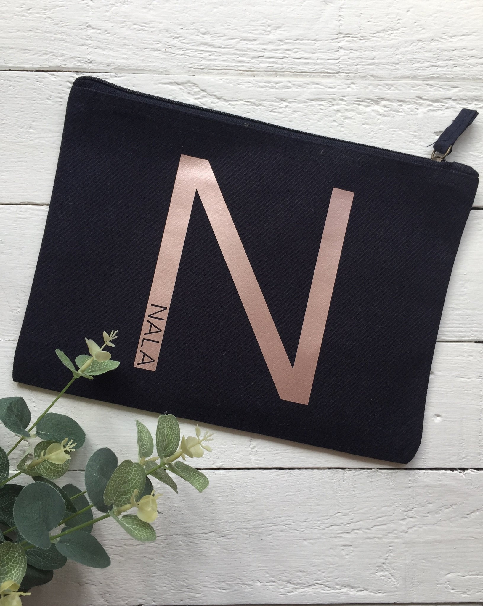 Personalised Initial Accessory Pouch