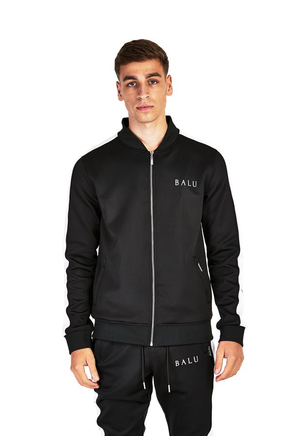 Black Track Top - Balu Clothing
