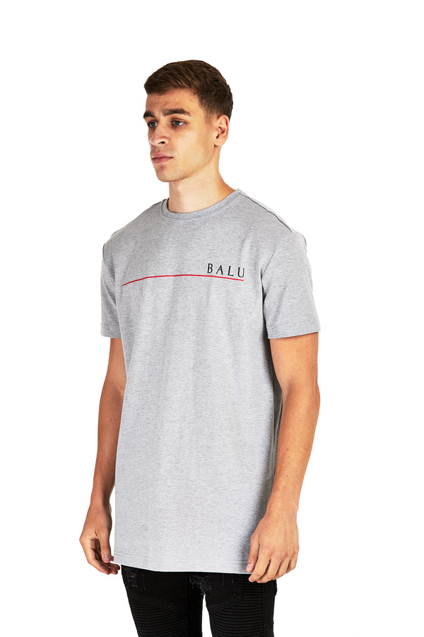 Marl Grey Redline Tee - Balu Clothing