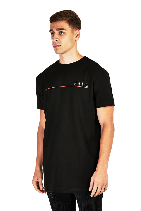 Black Redline Tee - Balu Clothing