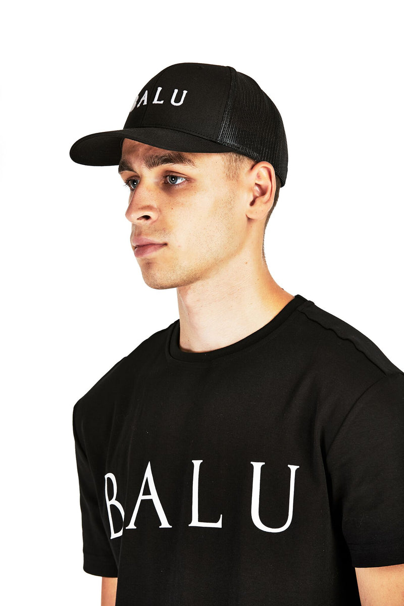 Black Retro Trucker - Balu Clothing