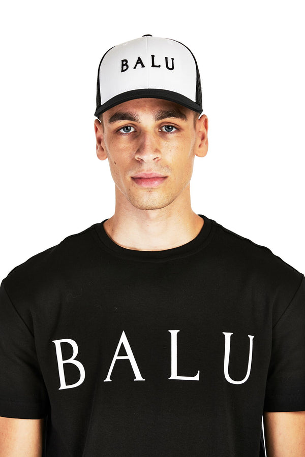 Black & White Retro Trucker - Balu Clothing