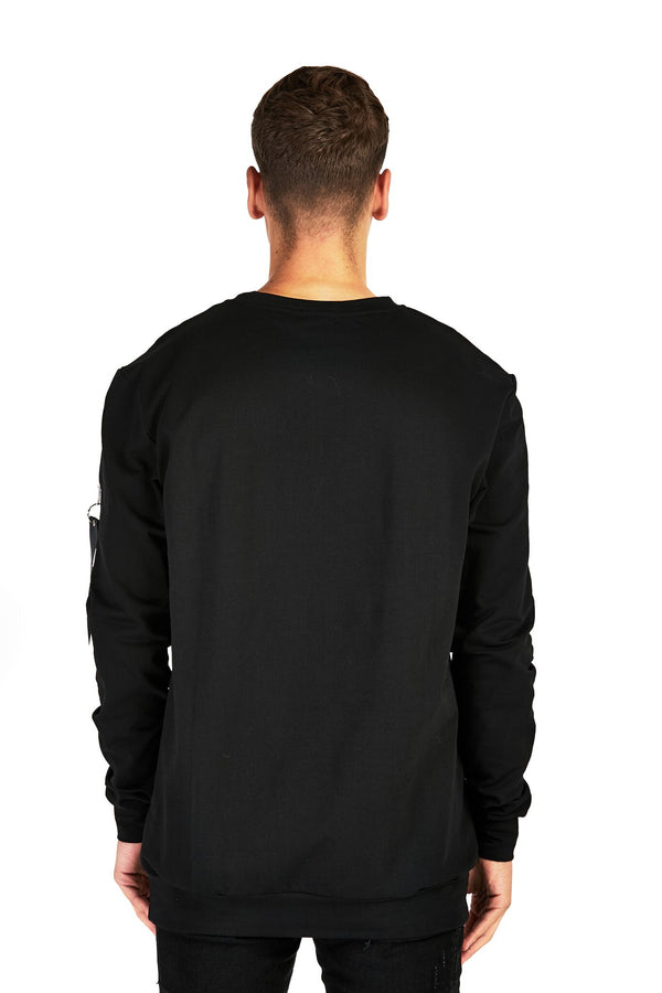 Black MA1 Sweatshirt - Balu Clothing