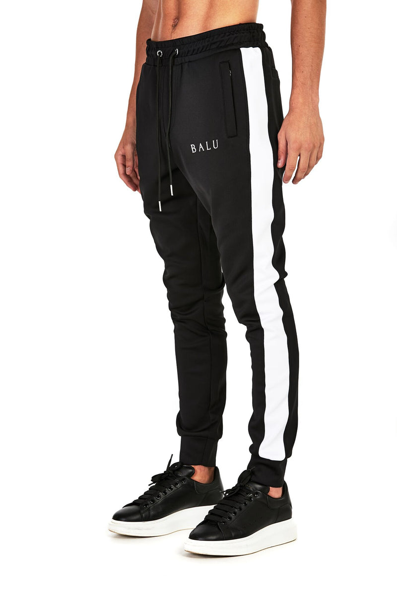 Black Track Bottoms - Balu Clothing