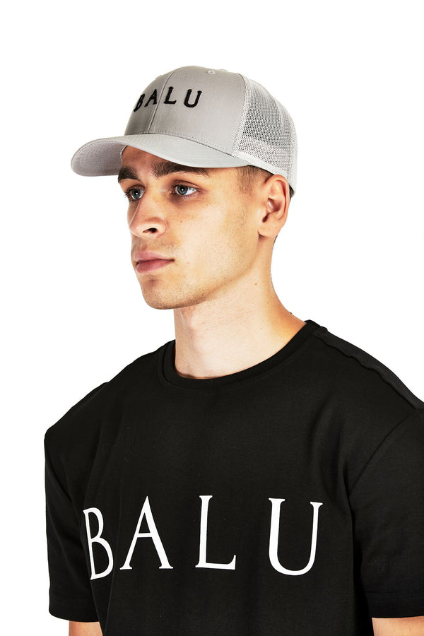 Grey Retro Trucker - Balu Clothing