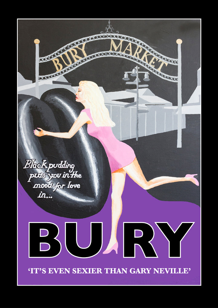 Retro Poster Art - Bury